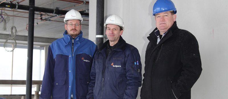 Medewerkers van Kuijpers en Hydroscope op een bouwterrein