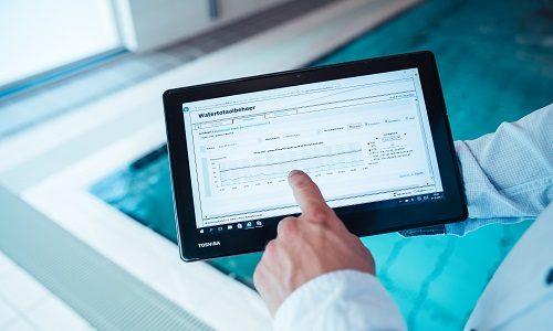 Watertotaalbeheer op een tablet